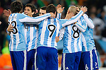 27.06.2010, Soccer City Stadium, Johannesburg, RSA, FIFA WM 2010, Argentina (ARG) vs Mexico (MEX), im Bild Nicolas Burdisso (4) and other players of Argentina celebrate after the 2010 FIFA World Cup South Africa. EXPA Pictures © 2010, PhotoCredit: EXPA/ Sportida/ Vid Ponikvar +++ Slovenia OUT +++