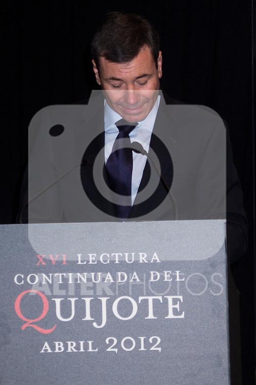 24.04.2012. XVI continued reading of Don Quixote at the Circulo de Bellas Artes in Madrid. In the image Tomas Gomez, Secretary General of the PSOE Madrid (Alterphotos/Marta Gonzalez)