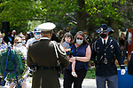 Family and friends of NHP Sgt. Ben Jenkins participate in the annual Nevada Law Enforcement Officers Memorial ceremony, in Carson City Nev., on Thursday, May 6, 2021. Jenkins was killed in the line of duty in March 2020. <br /> Photo by Cathleen Allison