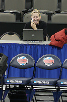 Omaha, NE - DECEMBER 20:  Assistant media relations director Kendall Johnson of the Stanford Cardinal during Stanford's 2008 NCAA Division I Women's Volleyball Final Four Championship closed practice before playing the Penn State Nittany Lions on December 20, 2008 at the Qwest Center in Omaha, Nebraska.