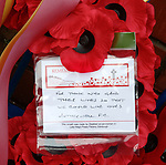 11.11.18 Rangers v Motherwell: Wreath from Motherwell FC