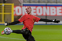 goalkeeper Maarten Vandevoordt (1) of Belgium pictured before a soccer game between the national teams Under21 Youth teams of Belgium and Denmark on the fourth matday in group I for the qualification for the Under 21 EURO 2023 , on tuesday 12 th of october 2021  in Leuven , Belgium . PHOTO SPORTPIX   STIJN AUDOOREN