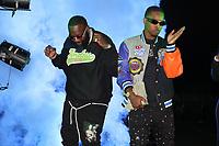 "ATLANTA, GA - SEPTEMBER 22, 2020 LiL Bam & Rick Ross  on the set of the ""Julio"" remix video shoot September 22, 2020 in Atlanta, Georgia. ( No Negative Caption Or Stories )<br /> CAP/MPI/WG<br /> ©WG/MPI/Capital Pictures"