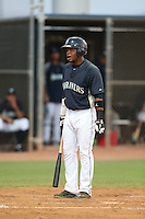 Ismael Alcantara #31of the AZL Mariners bats against the AZL Giants at the Peoria Sports Complex on July 10, 2014 in Peoria, Arizona. AZL Giants defeated the AZL Mariners, 8-4. (Larry Goren/Four Seam Images)
