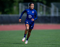 CLEVELAND, OH - SEPTEMBER 14: Mallory Pugh of the United States sprints during a training session at the training fields on September 14, 2021 in Cleveland, Ohio.