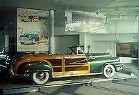 A 1948 Chrysler Town House Convertable , located at the Walter P. Chrysler Museum in Auburn Hills, Michigan