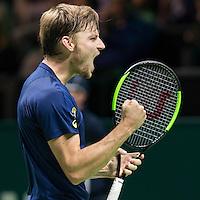 ABN AMRO World Tennis Tournament, Rotterdam, The Netherlands, 17 Februari, 2017, David Goffin (BEL)<br /> Photo: Henk Koster