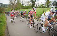 Jelle Vanendert (BEL/Lotto-Belisol) behind world champion Rui Costa (POR/Lampre) up the 'steepest climb' in Holland: Keutenberg (max 22%)<br /> <br /> Amstel Gold Race 2014