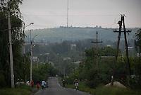 View of Karachun Mountain in Slovyansk, where Ukrainian army hold their position