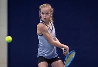 Hilversum, Netherlands, December 2, 2018, Winter Youth Circuit Masters, Evi Roobol (NED) winner girls 12 years.<br /> Photo: Tennisimages/Henk Koster