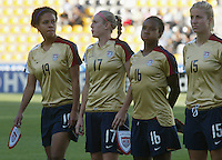Coquimbo, Chile: American's players team during the semi-finals match, of the Fifa U-20 Womens World Cup the at Francisco Sanchez Rumoroso stadium in Coquimbo, located at 459 kilometers north of Santiago, on December 4 th, 2008. By Grosnia / ISIphotos.com