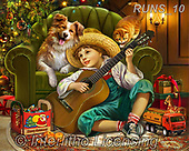 Nadia, CHRISTMAS CHILDREN, WEIHNACHTEN KINDER, NAVIDAD NIÑOS, paintings+++++,RUNS10,#XK# ,puzzle,puzzles,boy,dog,