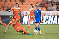 Houston, TX - Sunday Sept. 25, 2016: Ellie Brush, Manon Melis during a regular season National Women's Soccer League (NWSL) match between the Houston Dash and the Seattle Reign FC at BBVA Compass Stadium.