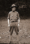 Petersburg VA:  To increase American forces, Woodrow Wilson raised the age limit for service in the armed forces to 40 years old. Brady Stewart enlisted in the Army at age 36..Brady Stewart in uniform at bootcamp,  80th Division encampment - 1918.  Brady Stewart enlisted in 1917 and was discharged in 1918 before the unit was sent overseas.