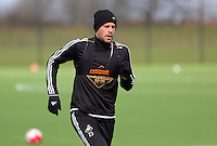 Gylfi Sigurdsson during the Swansea City FC training at Fairwood training ground in Wales, UK on Wednesday 06 April 2016