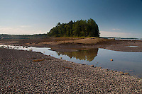 Lower Negro Island Shoreline and the Bagaduce River, Castine, Maine, US