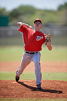 Washington Nationals pitcher James Bourque (38) delivers a pitch during a minor league Spring Training game against the St. Louis Cardinals on March 27, 2017 at the Roger Dean Stadium Complex in Jupiter, Florida.  (Mike Janes/Four Seam Images)