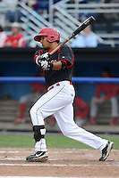 Batavia Muckdogs third baseman Juan Avila (44) during a game against the Williamsport Crosscutters on September 4, 2013 at Dwyer Stadium in Batavia, New York.  Williamsport defeated Batavia 6-3 in both teams season finale.  (Mike Janes/Four Seam Images)