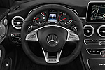 Car pictures of steering wheel view of a 2017 Mercedes Benz C Class AMG 63 S 2 Door Convertible