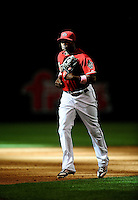 May 9, 2010; Phoenix, AZ, USA; Arizona Diamondbacks outfielder Justin Upton against the Milwaukee Brewers at Chase Field. Players are wearing pink arm bands and using pink bats in honor of breast cancer awareness and Mothers Day. The Brewers defeated the Diamondbacks 6-1. Mandatory Credit: Mark J. Rebilas-