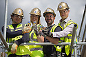 ***FREE PHOTO FOR EDITORIAL USE***<br /> <br /> 09/06/15<br /> <br /> L/R: Sebastian Iwaniuk, Lesley Blackman, Akil Sylia and<br /> Jamie Prior... <br /> <br /> Lotto jackpot winner, Lesley Blackman, joins builders in Southampton to celebrate the building trade being declared the country's luckiest profession, according to The National Lottery's top secret winners database.<br />  <br /> All Rights Reserved: F Stop Press Ltd. +44(0)1335 418629   www.fstoppress.com.