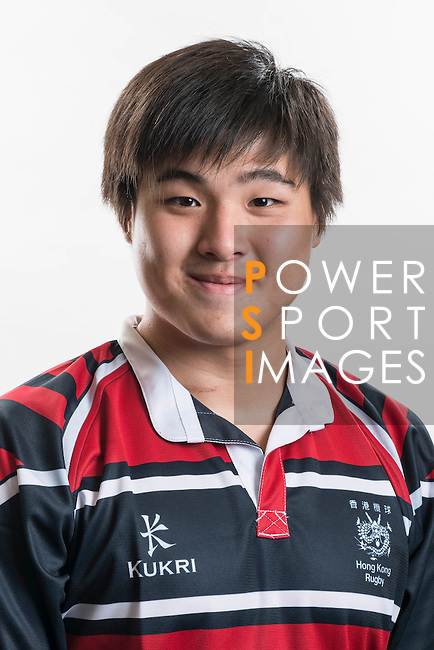 Hong Kong Junior Squad team member Ron Siew poses during the Official Photo Session Day at King's Park Sports Ground ahead the Junior World Rugby Tournament on 25 March 2014. Photo by Andy Jones / Power Sport Images