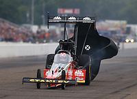 Aug 17, 2014; Brainerd, MN, USA; NHRA top fuel dragster driver Doug Kalitta during the Lucas Oil Nationals at Brainerd International Raceway. Mandatory Credit: Mark J. Rebilas-