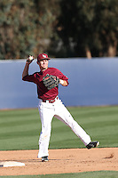 Kent Burckle (3) of the Loyola Marymount Lions makes a throw during infield practice before a game against the Gonzaga Bulldogs at Page Stadium on March 27, 2015 in Los Angeles, California. Loyola Marymount defeated Gonzaga 6-5.(Larry Goren/Four Seam Images)