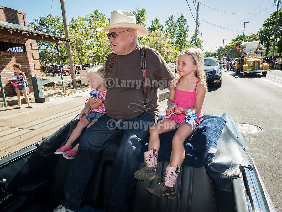 Opening day kids parade on Main Street and ribbon cutting to open the 76th Amador County Fair, Plymouth, Calif.