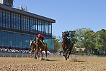 April 10, 2021: #5 Edgeway , ridden by Joel Rosario wins the Carousel Stakes  for trainer John W. Sadler at Oaklawn Park in Hot Springs,  Arkansas. Ted McClenning/Eclipse Sportswire/CSM