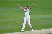 Matt Quinn of Essex appeals successfully for the wicket of Michael Carberry during Essex CCC vs Hampshire CCC, Specsavers County Championship Division 1 Cricket at The Cloudfm County Ground on 20th May 2017