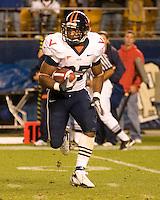 02 September 2006: Virginia running back Cedric Peerman..The Pitt Panthers defeated the Virginia Cavaliers 38-13 on September 02, 2006 at Heinz Field, Pittsburgh, Pennsylvania.
