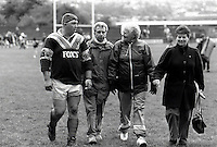 Pix:Michael Steele/SWpix...Keighley v Batley. Rugby League. From the book 'When Push Comes to Shove'....COPYRIGHT PICTURE>>SIMON WILKINSON..Family fan club.