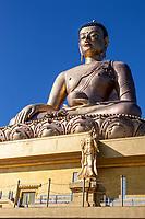 Thimphu, Bhutan.  Great Buddha Dordenma Statue.  The Buddha sits in the Bhumisparsha mudra (gesture), calling the earth to witness.