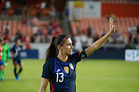 HOUSTON, TX - JUNE 13: Alex Morgan #13 of the United States waves to the fans after a game between Jamaica and USWNT at BBVA Stadium on June 13, 2021 in Houston, Texas.