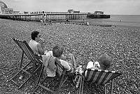 - UK, vacationers in Brigthon bathing town, on the south coast, June 1988<br />