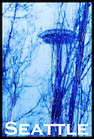 Space Needle as seen thru a wet window