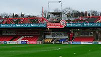 A general view of Wham Stadium, commonly known as Crown Ground, home of Accrington Stanley<br /> <br /> Photographer Andrew Vaughan/CameraSport<br /> <br /> The EFL Sky Bet League One - Accrington Stanley v Lincoln City - Saturday 21st November 2020 - Crown Ground - Accrington<br /> <br /> World Copyright © 2020 CameraSport. All rights reserved. 43 Linden Ave. Countesthorpe. Leicester. England. LE8 5PG - Tel: +44 (0) 116 277 4147 - admin@camerasport.com - www.camerasport.com