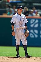 Empire State Yankees second baseman Corban Joseph #1 during an International League game against the Buffalo Bisons at Coca-Cola Field on August 21, 2012 in Buffalo, New York.  Empire State, who was the home team because of stadium renovations, defeated Buffalo 4-2.  (Mike Janes/Four Seam Images)