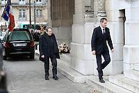 Robert Hossein - Obseques de Michele Morgan - Service religieux en l'Èglise Saint-Pierre de Neuilly-sur-Seine le 23 decembre 2016