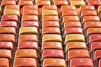 Colour shot - Colourful seats in the Arena da Amazonia Stadium