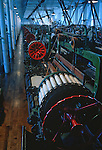 A 1920's loom at the Boott Cotton Mill weave room, Lowell National Historical Park, Lowell, Massachusetts, USA