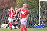 forward Sanne Schoenmakers (8 Standard) celebrates a goal during a female soccer game between Standard Femina de Liege and Dames SV Zulte Waregem on the fifth matchday of the 2020 - 2021 season of Belgian Scooore Womens Super League , saturday 17 th of October 2020  in Angleur , Belgium . PHOTO SPORTPIX.BE | SPP | STIJN AUDOOREN