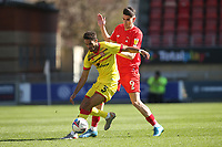 Conor Wilkinson of Leyton Orient and Max Melbourne of Walsall during Leyton Orient vs Walsall, Sky Bet EFL League 2 Football at The Breyer Group Stadium on 5th April 2021