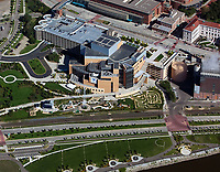 aerial photograph of the Science Museum of Minnesota, St Paul, Minnesota