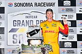 Ryan Hunter-Reay, Andretti Autosport Honda in victory lane