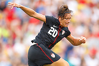 14 MAY 2011: USA Women's National Team forward Abby Wambach (20) during the International Friendly soccer match between Japan WNT vs USA WNT at Crew Stadium in Columbus, Ohio.