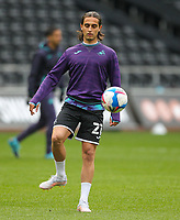 20th April 2021; Liberty Stadium, Swansea, Glamorgan, Wales; English Football League Championship Football, Swansea City versus Queens Park Rangers; Yan Dhanda of Swansea City during the warm up