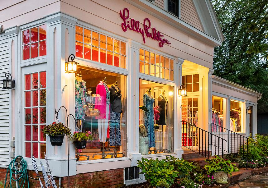 Lilly Pulitzer Signature Store, Chatham, Cape Cod, Massachusetts, USA.