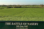 Naseby Northamptonshire. The battlefield that lies in front of the Cromwell Monument. Decisive battle of the English Civil War 1645